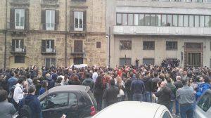 La protesta a Palermo, 22 Marzo 2016