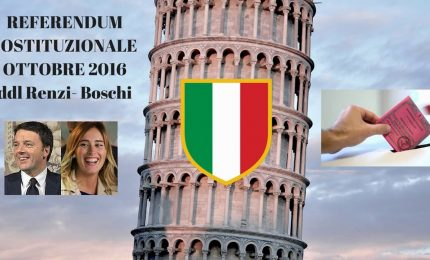 Ora Renzi si prepara a perdere il referendum di Ottobre sulle 'presunte' riforme costituzionali