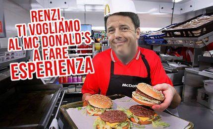 """I Macjobs di Renzi, studenti sempre più arrabbiati: """"Ci preparano alla precarietà e allo sfruttamento"""""""