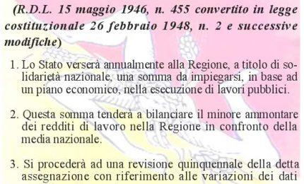 Mancata attuazione dell'articolo 38 dello Statuto: lo Stato deve alla Sicilia 152 miliardi di Euro