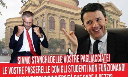 """Gli studenti preparano il benvenuto a Renzi: """"Università a pezzi. Vi roviniamo la festa"""""""