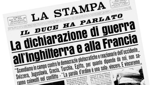 10 giugno, anniversario della guerra folle di Mussolini a Francia e Inghilterra