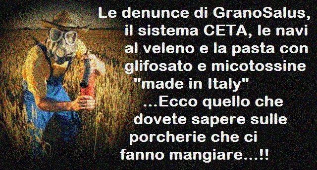 Nazisti in Germania? Giusto combatterli. Ma pensiamo anche alla UE che ci impone il grano avvelenato!
