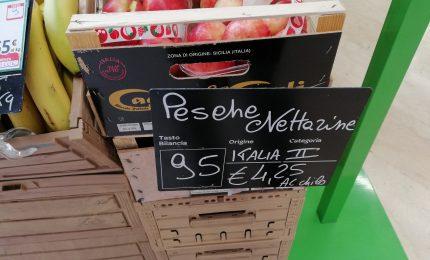 E voilà: a Palermo pesche Nettarine a 4,25 euro al Kg e albicocche a quasi 5 euro al Kg!