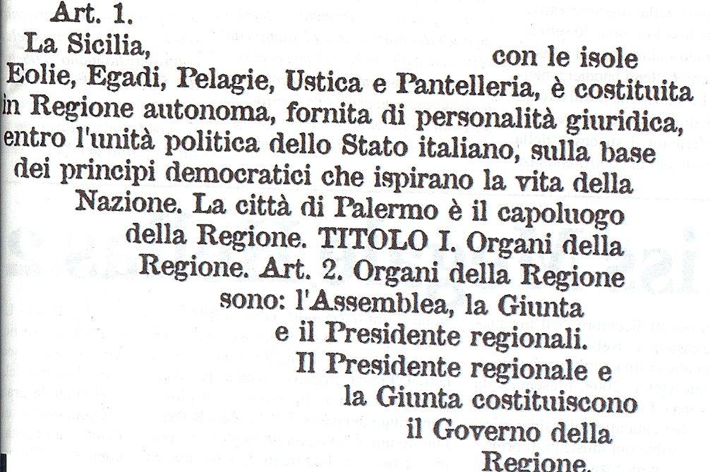 La Regione siciliana non è italiana, ma legata all'Italia da un Patto federativo