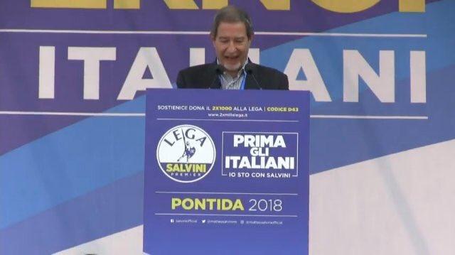 Nello Musumeci uno e trino: da Pontida a Pergusa fino al sabato fascista alla siciliana…