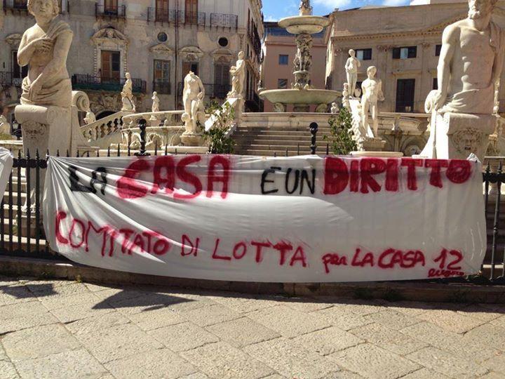 La CGIL di Palermo scopre che in città ci sono i senza casa. Sta arrivando Maurizio Landini?