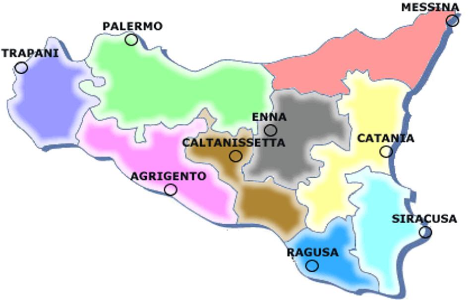 Cartina Sicilia Con Province.Le Province Siciliane A Questo Punto Meglio Eliminarle I Nuovi Vesprii Nuovi Vespri