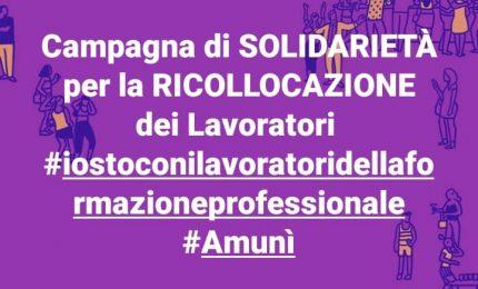 Le foto della campagna di solidarietà ai lavoratori della Formazione siciliana da tutta l'Italia