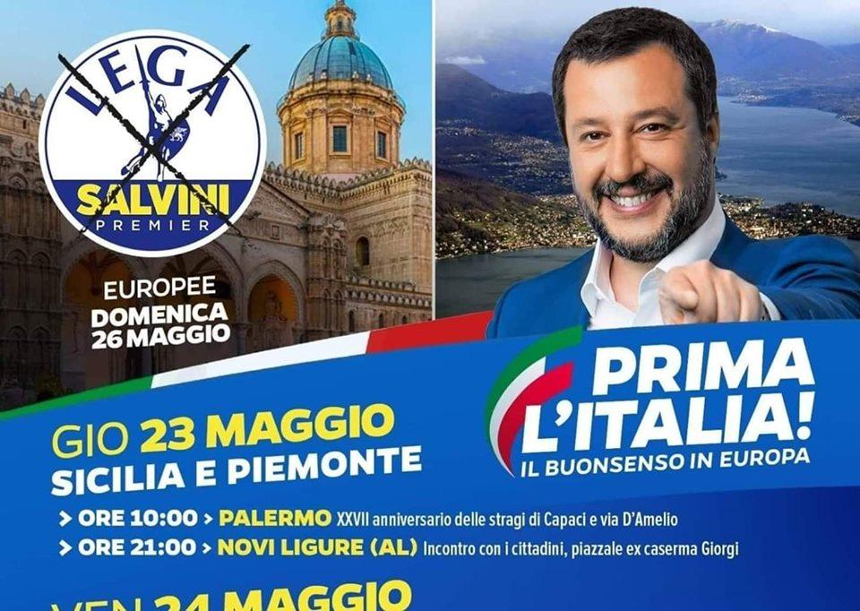 Ministro Salvini, scusi: ma la commemorazione della strage di Capaci per Lei è campagna elettorale?