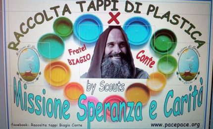 La raccolta tappi per sostenere la 'Missione' di Biagio Conte