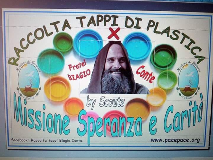 check-out vendita online vendita calda autentica La raccolta tappi per sostenere la 'Missione' di Biagio ...