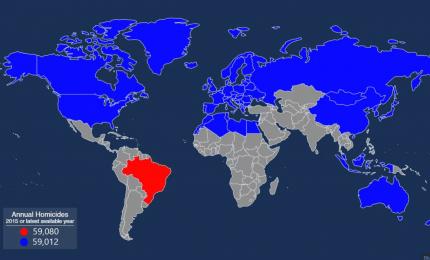 I dati statistici degli omicidi nel mondo: l'Italia è agli ultimi posti