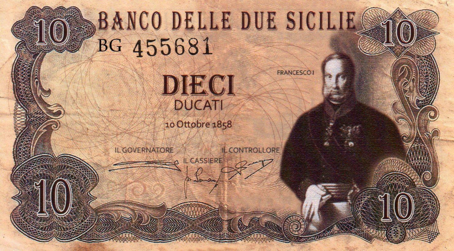 Quando il Banco delle Due Sicilie era la terza Banca europea!