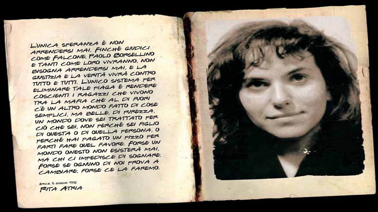 Rita Atria, la Memoria Attiva per ricordare il coraggio di una ragazza che sfidò a viso aperto la mafia