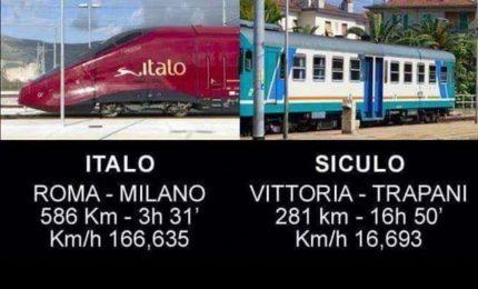 Ferrovie/ Roma-Milano: 3 ore di viaggio. Vittoria-Trapani: oltre 16 ore di viaggio!
