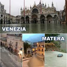 Maltempo: appelli e IBAN pronti per Venezia. E per Matera, il Salento e la Sicilia? Nulla!