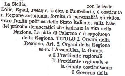 Autonomia: perché Regione siciliana e non Regione Sicilia