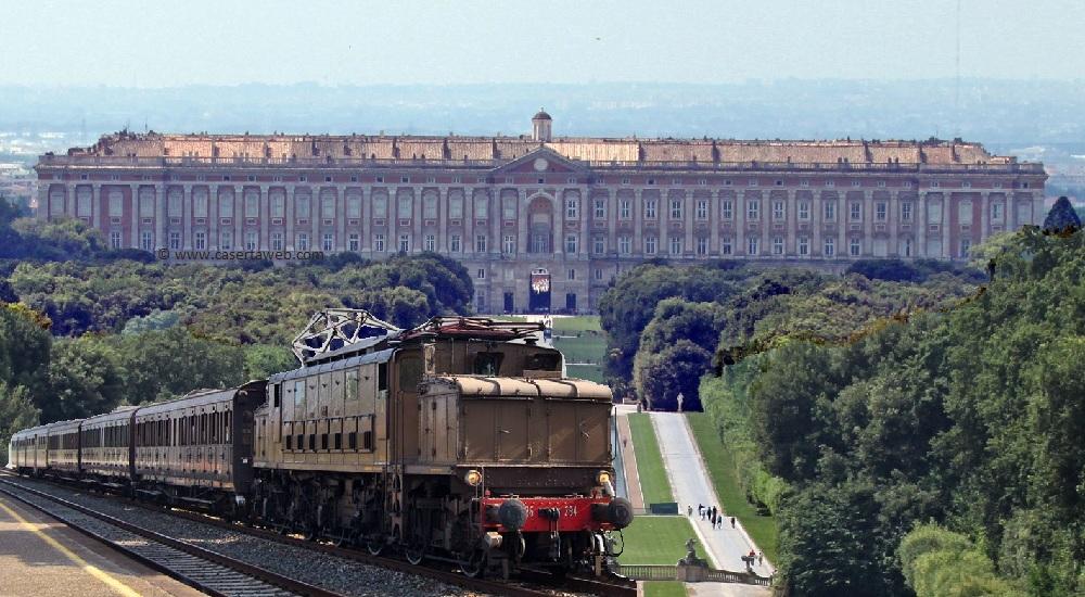 A Napoli un treno storico arriva alla Reggia di Caserta, a Palermo il Tram arriva nel Centro commerciale…