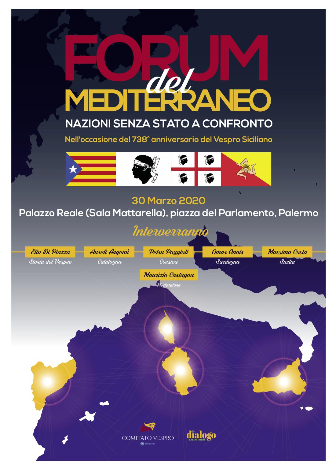 """A Palermo quattro """"Nazioni senza Stato"""" a confronto: Catalogna, Corsica, Sardegna e Sicilia"""