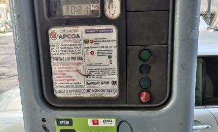 PALERMO-CITTA' 23/ Parcometri AMAT e APACOA funzionanti senza alcun avviso per gli utenti?
