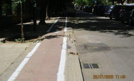 PALERMO-CITTA' 17/ E queste sarebbero piste ciclabili? Ma per cortesia!