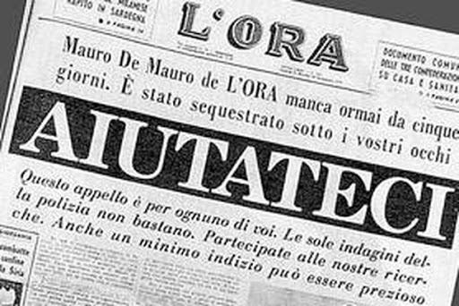 16 Settembre 1970: rapimento di Mauro De Mauro. Un ricordo del 1978