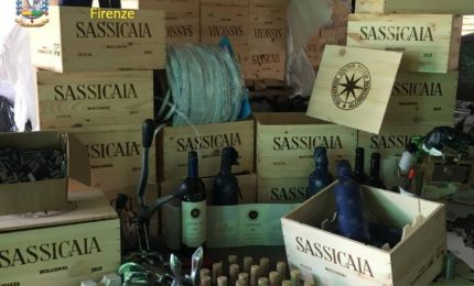 Il vino siciliano diventava Sassicaia: sgominata una truffa internazionale nel Nord Italia