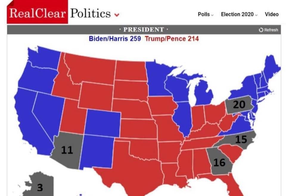 Elezioni americane: in alcuni siti americani Stati assegnati a Biden sono dati per revocati