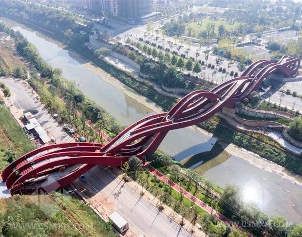 """ll """"Lucky Knot Bridge"""", il ponte cinese del """"Nodo fortunato"""" (a Palermo sarebbe 'tascio')"""