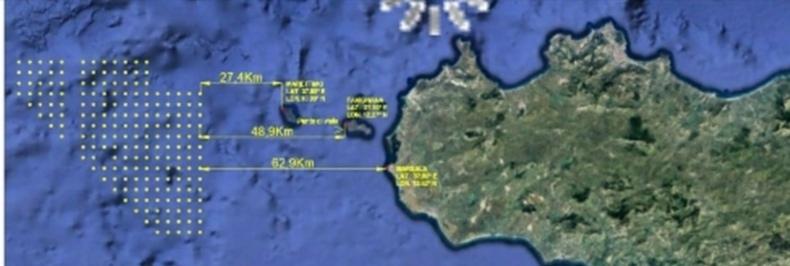 Nel mare al lago delle Egadi un parco eolico che risulterebbe tra i più estesi d'Europa con un impatto violentissimo sull'ambiente