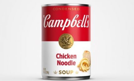 """La zuppa pronta Campbell's immortalata da Andy Warhol punta sul """"redesign"""""""