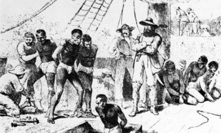 Campania post 1860: giovani venduti ai proprietari terrieri come al mercato degli schiavi di New Orleans