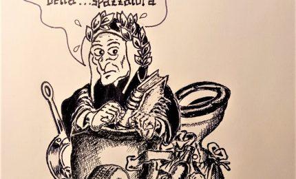 Munnizza e degrado in Piazza XIII vittime. La Vignetta di Guido Buccellato/ PALERMO-CITTA' 103