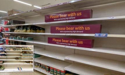 Negli scaffali dei supermercati inglesi comincia a mancare la pasta